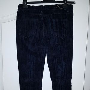 Cotelac navy blue burnout velvet jeans